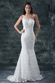 one shoulder wedding dresses real one shoulder mermaid lace wedding dresses with 2016 made