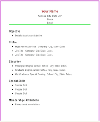 blank format of resume top sle resume format sle resume format
