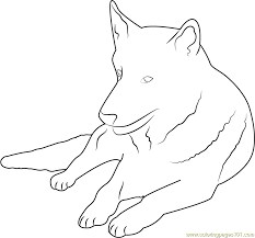 german shepherd coloring page free dog coloring pages