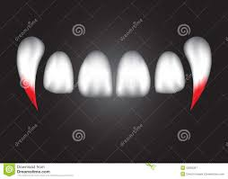 Vampire Teeth The Abstract Vampire Teeth With Blood Eps 10 Stock Vector Image