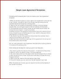 person to person loan contract template examples