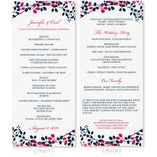 Sample Wedding Program Wedding Program Template Download Instantly By Karmakweddings