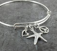 silver bangle bracelet with charms images Adjustable sterling silver bangle charm bracelet expandable etsy jpg