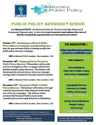 national place presents public policy advocacy webinar series