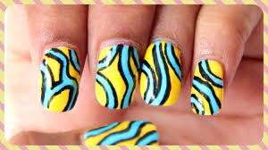 easy abstract nail art design chippernails youtube