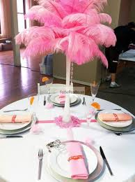 ostrich feather centerpieces feather plume palm tree baby pink ostrich feather centerpieces 6