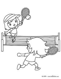 tennis court with 2 players coloring pages hellokids com