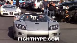 koenigsegg ccx engine watch floyd mayweather leading a bugatti convoy in his new