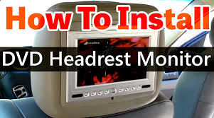 toyota highlander dvd headrest dvd headrest monitor installation hd