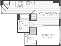 floor plans elevation at washington gateway apartments the