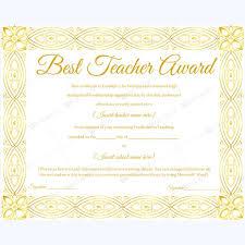 14 best best teacher award certificate templates images on
