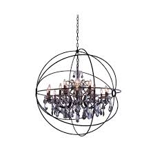 Home Depot Bronze Chandelier Elegant Lighting Geneva 18 Light Dark Bronze Chandelier With