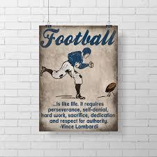 Football Room Decor Print Football Room Decor Vince Lombardi