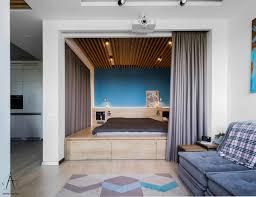 Small Studio Apartment Floor Plans by Fair 60 Blue Apartment Interior Inspiration Design Of