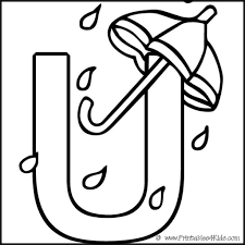 letter u coloring pages coloring page