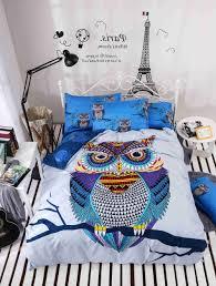 bed owl bedding set twin regarding great colorblock pink owl