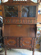 Antique Bookcase Desk Combo Secretary Desk Hutch Ebay