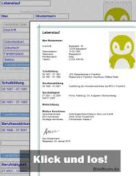 Lebenslauf Leere Vorlage Briefform De Kostenlose Musterbriefe Vorlagen Und Beispiele