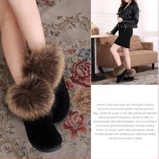 s quarter boots luxury winter fox fur boots genuine