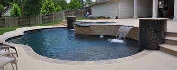 Backyards With Pools by Pearland Pool Builder Friendswood Custom Luxury Pools League City