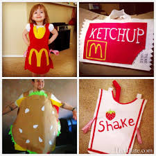 French Fry Halloween Costume Diy Sew Halloween Costumes Plate