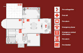 building fire ang emergency plans plan house evacuation template