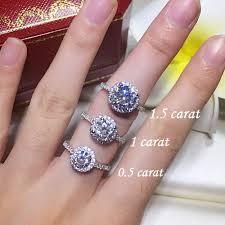 1 carat halo engagement ring 1 5 ct lab made deco halo bead set sign engagement