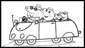 peppa pig take a ride coloring book pages for kids fun video