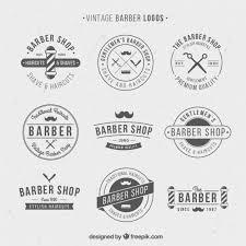 design a vintage logo free vintage logos for barber shop vector free download