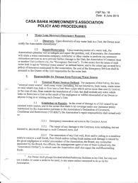 Hoa Meeting Agenda Template by Policies U0026 Procedures Casa Bahia Homeowners Association
