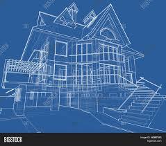 house blueprint 3d technical draw image u0026 photo bigstock