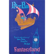 original hand silkscreened poster for disneyland fantasyland