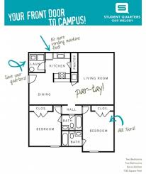 two bedroom two bath floor plans student quarters valdosta two bedroom two bathroom floorplans