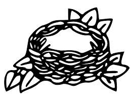 bird nest clipart black and white clipartxtras