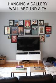 design evolving hanging a gallery wall around a tv design evolving