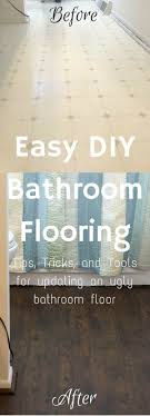 diy bathroom floor ideas easy diy bathroom flooring renovation budget bathroom remodel