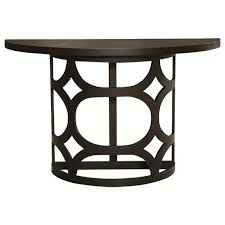 half round console table half round console table in brown