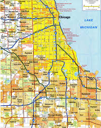 Maps Of Chicago by Highways Of North Chicago Cityfree Maps Of Us