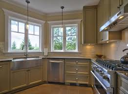 Shaker Style Interior Design by Window Trim Ideas Interior Kitchen Contemporary With Stainless