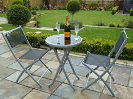 Bistro Patio Table Uk Gardens 3 Bistro Set For 2 Folding Garden Patio Set For