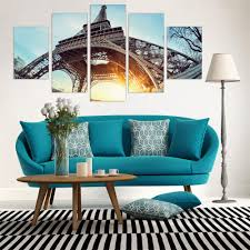 art painting for home decoration canvas painting tower wall picture poster oil pictures no