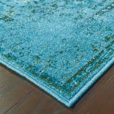 over dyed distressed traditional teal grey area rug 7 u002710 x 10 u002710