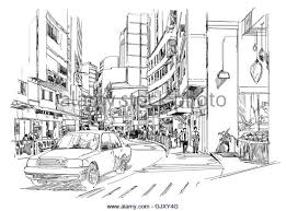sketch of city stock photos u0026 sketch of city stock images alamy
