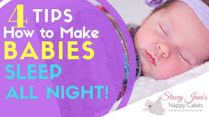 4 tips on how to make babies sleep all