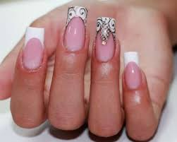 white tipped french manicure with nail design u2014 58 photos of the