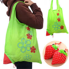1 pc strawberry foldable shopping bag tote reusable eco friendly