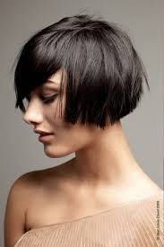 hair under ears cut hair blunt cropped bob that hits just below the ear with long bangs