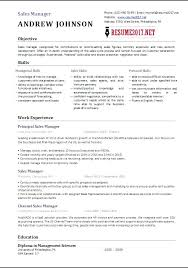 free manager resume sales manager resume template exles free collaborativenation
