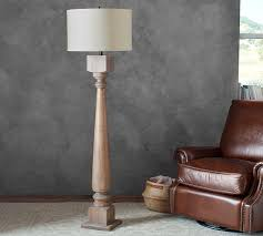 turned wooden floor lamp base