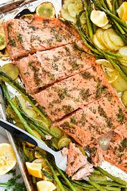 Bake Salmon In Toaster Oven Mustard Salmon Sheet Pan Dinner Foodiecrush Com